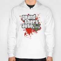 grand theft auto Hoodies featuring grand theft auto 5 by Dan Solo Galleries