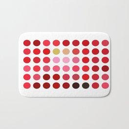 Mottled Red Poinsettia 2 Dots Bath Mat