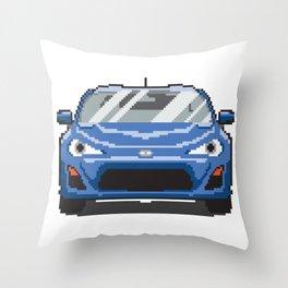 Blue 2013 FR-S Throw Pillow