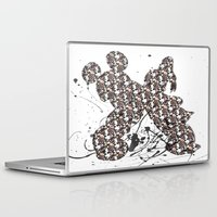 donald duck Laptop & iPad Skins featuring Mickey Mouse and Donald Duck Prints  by Dani Jay