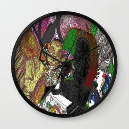 Whacky Bags pattern Wall Clock