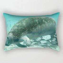 Large  Manatee Rectangular Pillow
