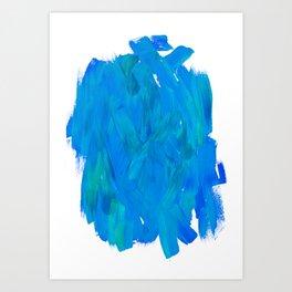 Blue Paint Abstract Art Print