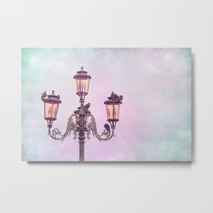 MAGICAL VENICE | Pink Lanterns Metal Print