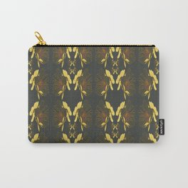 Art Nouveau Poppy Abstract Butterfly Pattern Carry-All Pouch