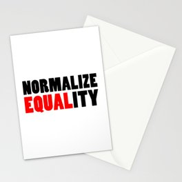 Normalize Equality Stationery Cards