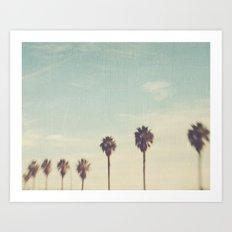 Palm Trees Los Angeles. Daydreamer No.2 Art Print