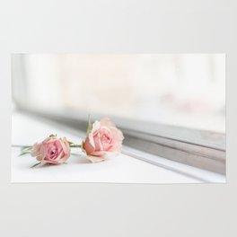 Baby pink roses Rug