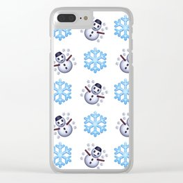 C1.3D Snowmoji Clear iPhone Case