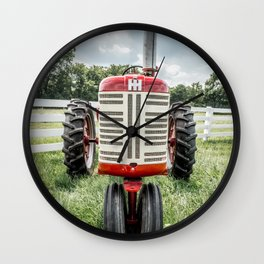 Vintage IH Farmall 450 Front Red Tractor Wall Clock