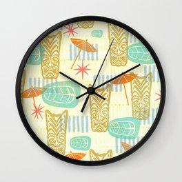 TIKI On The Beach Wall Clock