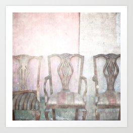 Antique Chairs Art Print