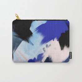Back to You: an abstract, mixed-media piece in blues by Alyssa Hamilton Art Carry-All Pouch