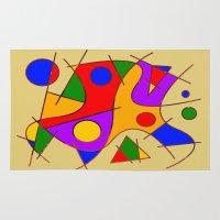 kandinsky Area & Throw Rugs featuring Abstract #206 by Ron (Rockett) Trickett