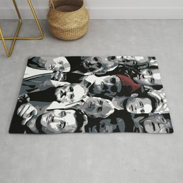 The many faces of Bill Murray Rug