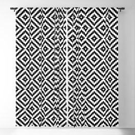Aztec Block Symbol Ptn BW I Blackout Curtain