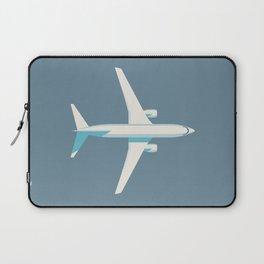 737 Passenger Jet Airliner Aircraft - Slate Laptop Sleeve