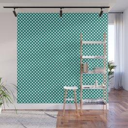 Dynasty Green and White Polka Dots Wall Mural