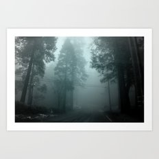 misty road Art Print