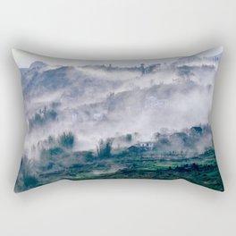 Foggy Mountain of Vietnam Rectangular Pillow