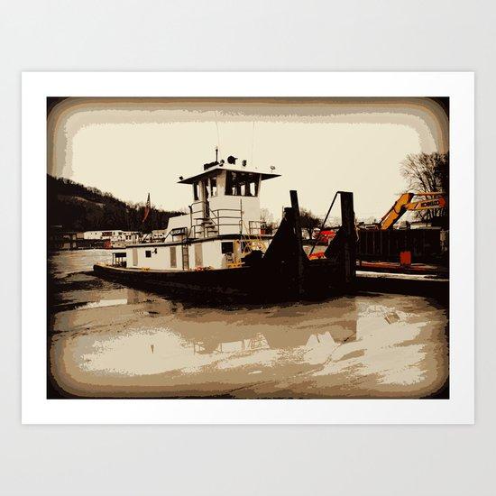 Tugboat II  Art Print