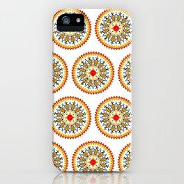 Mandala warm colour pallette iPhone Case