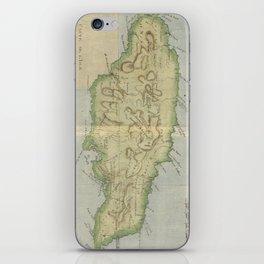 Vintage Map of Jamaica (1780) iPhone Skin