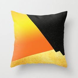 Night in gold Throw Pillow