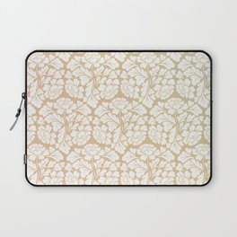 William morris pattern in gold Laptop Sleeve