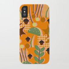 Autumn mushrooms iPhone X Slim Case