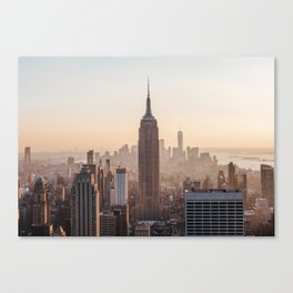 Empire State Building View Sunset Manhattan   Travel Photography Canvas Print
