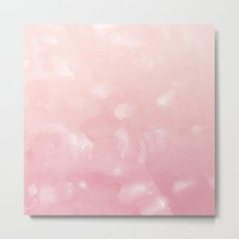 Touching Coral Pink Abstract Painting #1 #ink #decor #art #society6 Metal Print