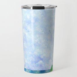Watercolor Collage Lighthouse Travel Mug