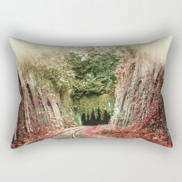 The Train is Coming From The Tunnel Rectangular Pillow