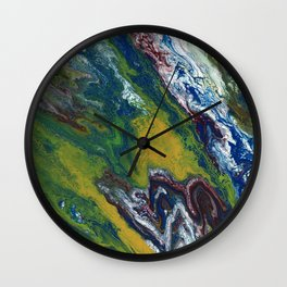 View From Space Wall Clock