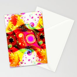 Fractal Summercolours And Happiness Stationery Cards