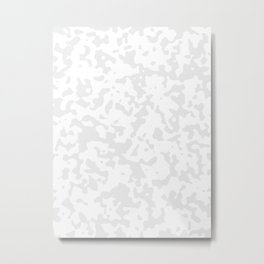 Spots - White and Pale Gray Metal Print