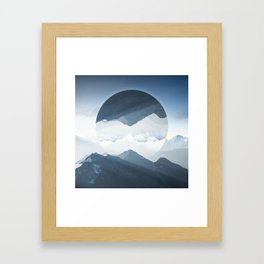 High mountain in morning time Framed Art Print