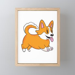Corgi Dad Framed Mini Art Print
