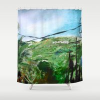 hollywood Shower Curtains featuring Hollywood by James Peart