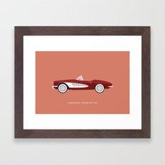 Chevrolet Corvette 1961 Framed Art Print