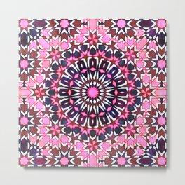 FEZ Moroccan Tiles {4H} Metal Print
