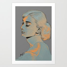 Audrey Hepburn 2 Art Print