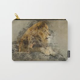 Lion on the rocks Carry-All Pouch
