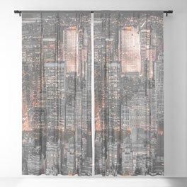 NEW YORK CITY XVI Sheer Curtain