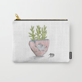 Succulent in Elephant Planter Carry-All Pouch