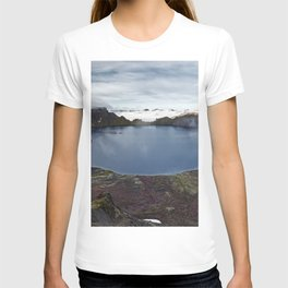 Crater lake of active volcano on Kamchatka Peninsula T-shirt