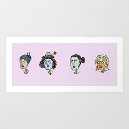 Heads II Art Print