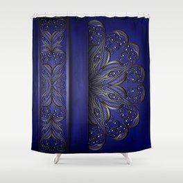 Silver ornament decoration Shower Curtain