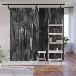 Etching in Black and White Wall Mural